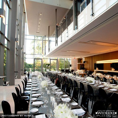Lori & John   WedLuxe Black and white wedding catered by Couture Cuisine @ The Royal Conservatory of Music, Toronto