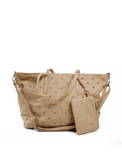 Τσάντα ώμου μεγάλη - Μπεζ 39,99 €