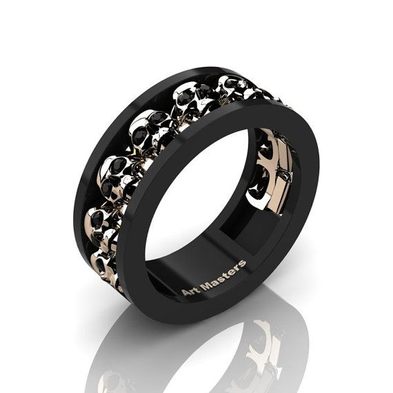 Hey, I found this really awesome Etsy listing at https://www.etsy.com/listing/481830725/mens-modern-14k-black-and-rose-gold