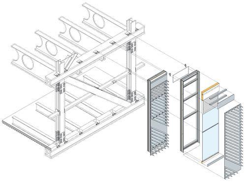 La solución del revestimiento en la biblioteca resultó muy versátil ya que permitía solucionar singularidades como tomas de aire y rejillas de ventilación.