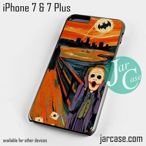 joker scream Phone case for iPhone 7 and 7 Plus