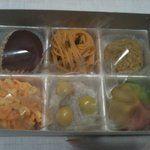 御菓子司 葉月 - 料理写真:栗きんとん、銀杏、かぼちゃ、etc