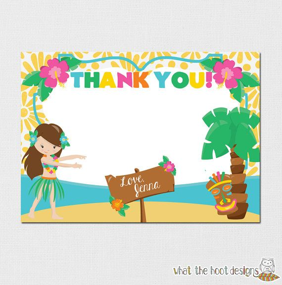 Hey, I found this really awesome Etsy listing at https://www.etsy.com/listing/198253413/luau-thank-you-card-luau-birthday-party