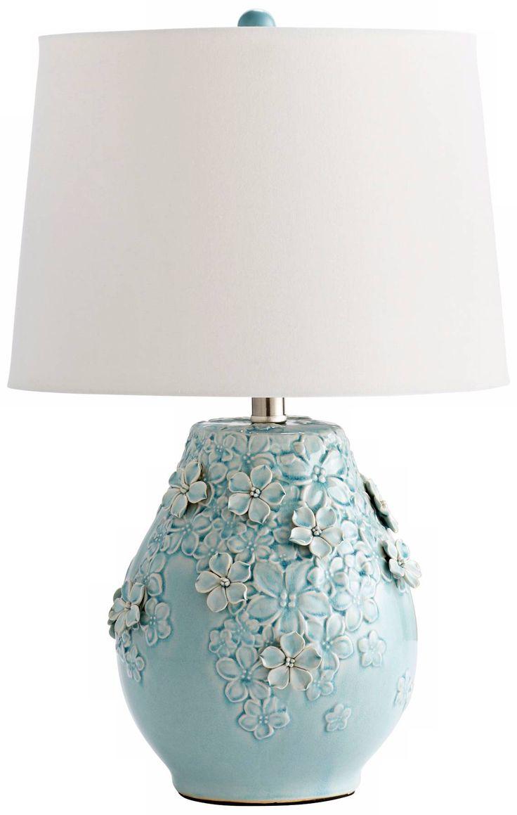 Blue ceramic table lamps - Eire Ceramic Sky Blue Table Lamp X6144 Lamps Plus