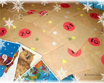 Set of 24 Handmade Advent Calendar Ornaments by felterrific