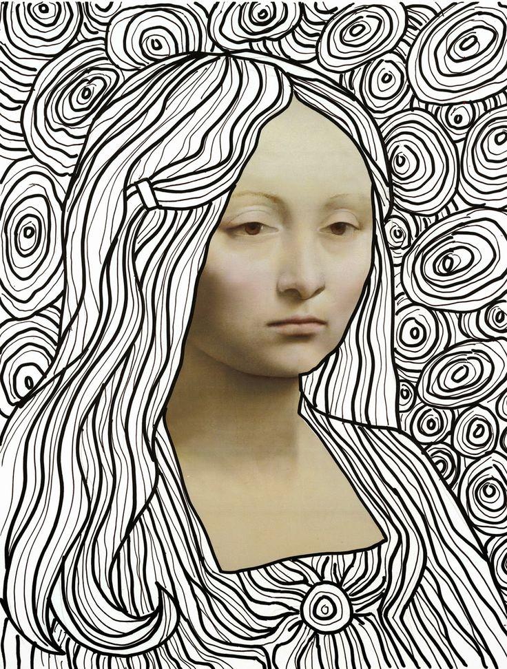 Art Projects for Kids: Leonardo Line Drawing Template