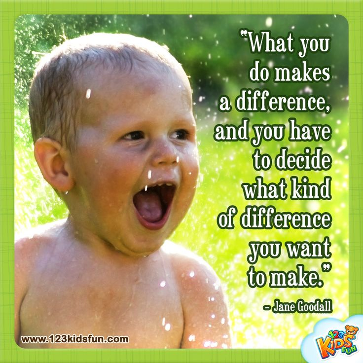 What you do... #quotes #earthday #world #kids #goodall