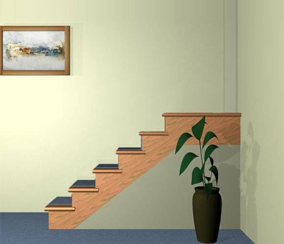 Stair Builder - choose your newel post, handrail and balusters and see them in the new design. Great way to visualize your new stair railing.