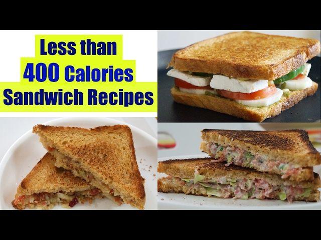 4 Healthy Sandwich Recipes   Weight Loss Recipes   Healthy Breakfast Ideas In Hindi
