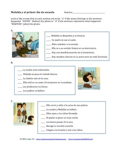 Teaching Spanish w/ Comprehensible Input: First Days of School - Additional Materials - MovieTalk