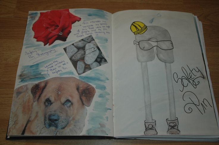 Page from my sketchbook of my object from The Find the Magic Brief