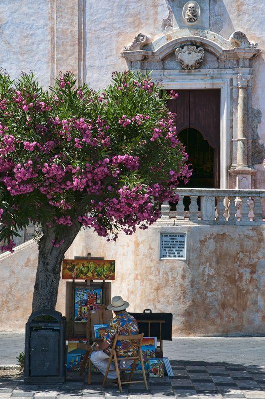 Taormina, Szicília, Olaszország .