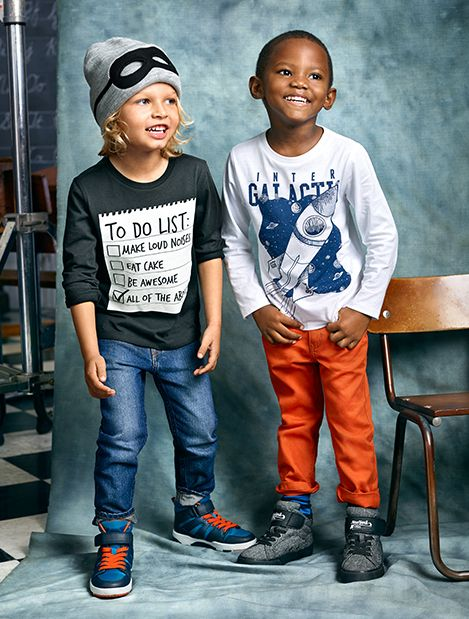 To Do List: get school supplies, pack backpack, stock up on the season's best kids styles for first impressions. | H&M Kids