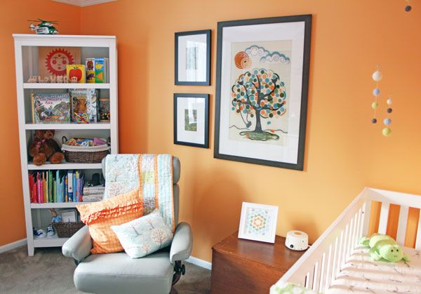 Gender Neutral creamsicle nursery