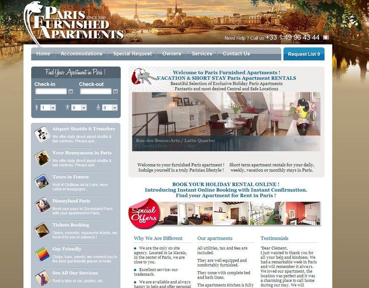 Vacation Rental Website Design   Http://www.parisfurnishedapartments.com/