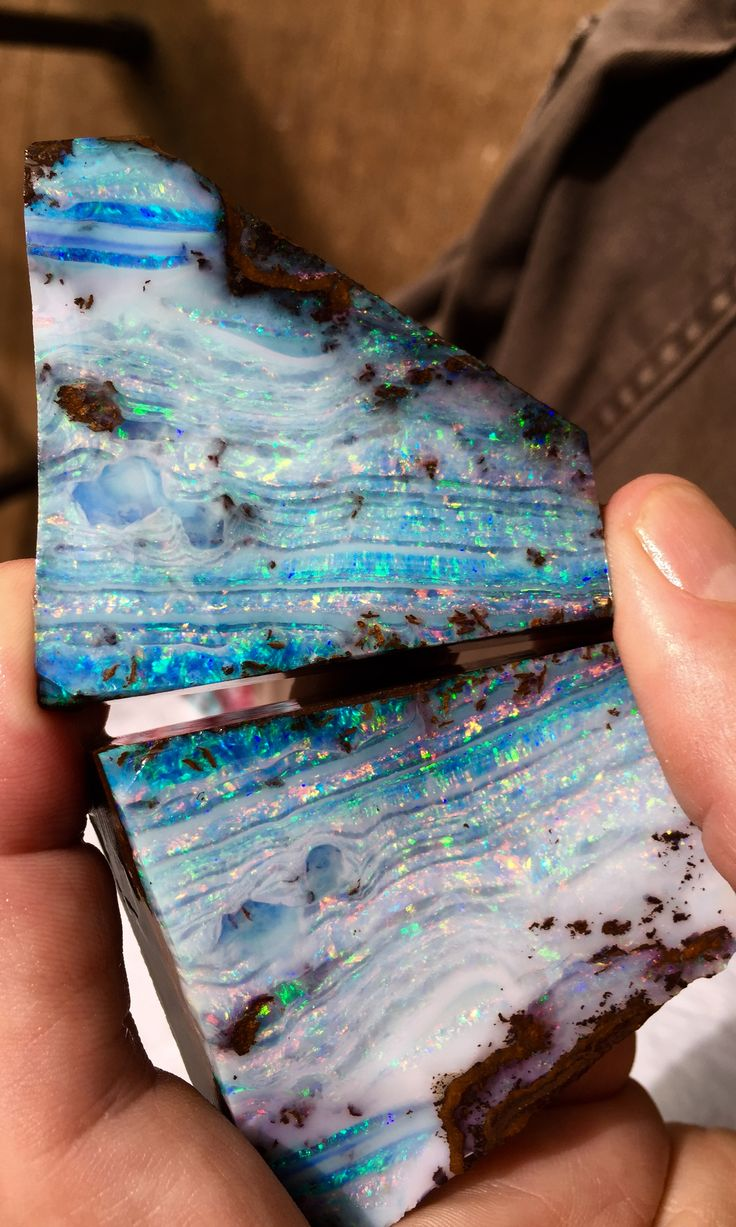 A lovely Boulder Opal split....Bill Kasso                                                                                                                                                                                 More