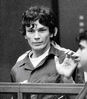 "1985 California's ""Night Stalker"" killer Richard Ramirez was captured by residents of an East Los Angeles neighborhood."