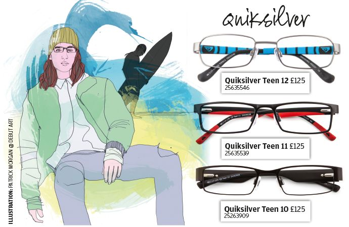 Stylish glasses from Quiksilver