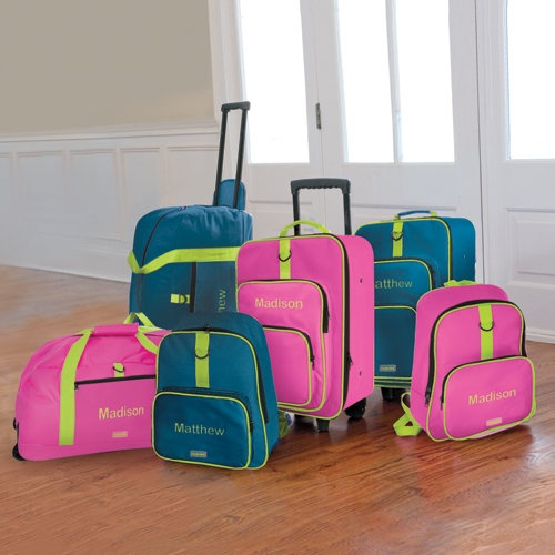 Child-Sized 2 Piece Luggage Set designed by One Step Ahead  Unlike most children's luggage, ours is really built to last! Our premium kids' luggage set includes a pullman and backpack, both with huge outside pockets that keep toys and books close.