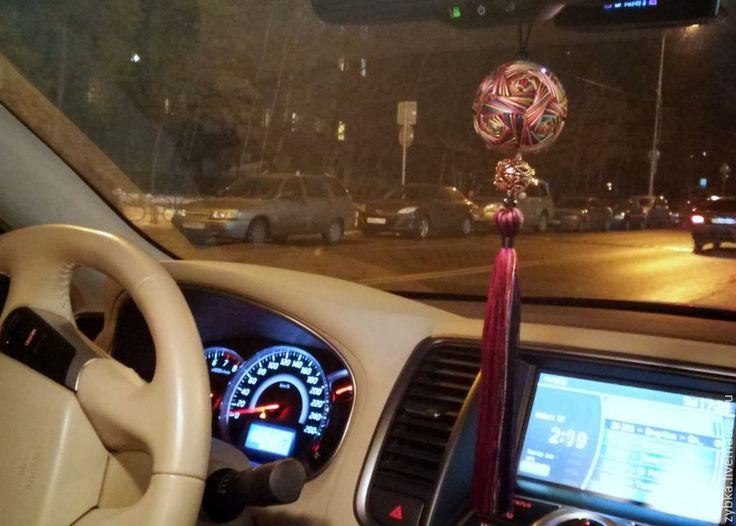 """Купить Темари - ароматизатор """" Салют"""" - темари, подарок, подвеска, подвеска в автомобиль, подвеска в машину"""