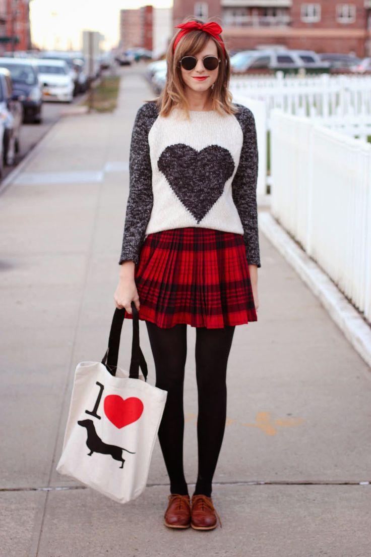 Larmoni Sweater Bean Goods Bag Dachshund Bag Vintage Plaid Skirt Brown Oxford Loafers Nyc