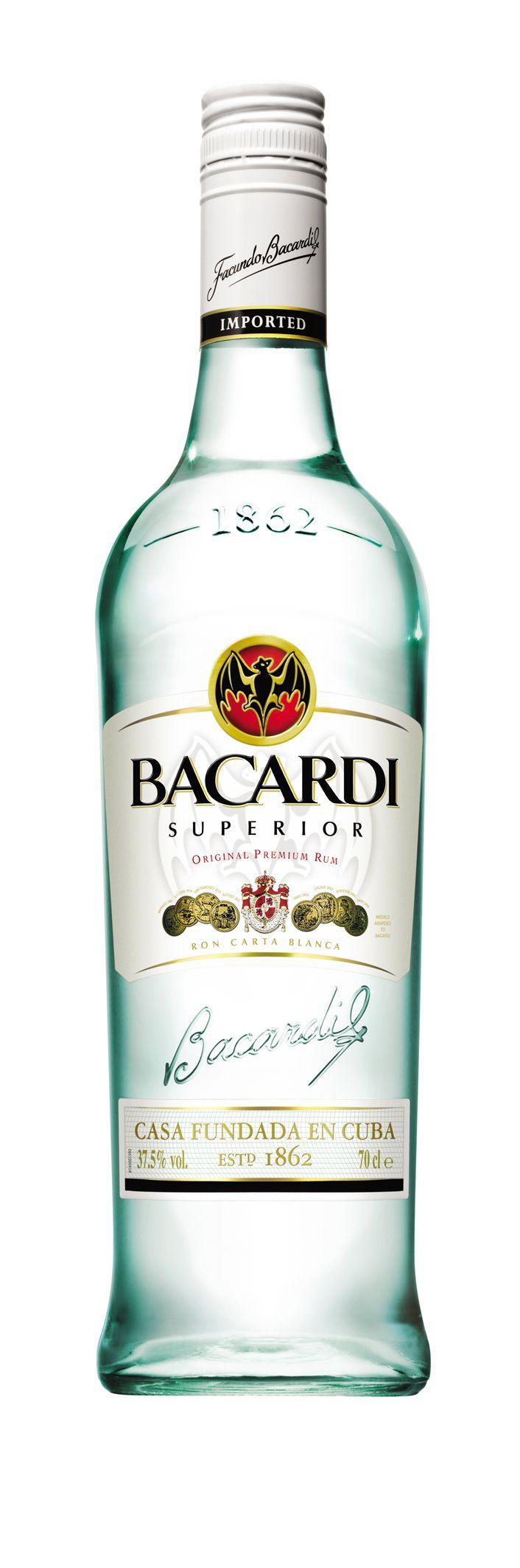 BACARDI Superior white rum. gluten free. gluten free