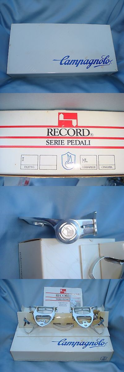 Vintage Bicycle Parts 56197: Nos Campagnolo C-Record Pedals BUY IT NOW ONLY: $435.0