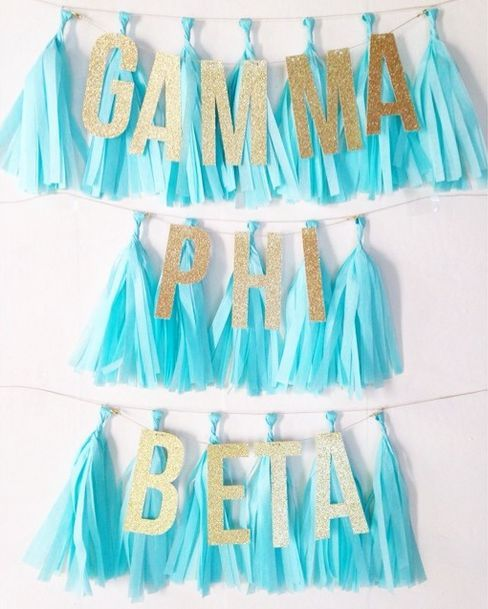 gamma phi beta decorations! too cute!