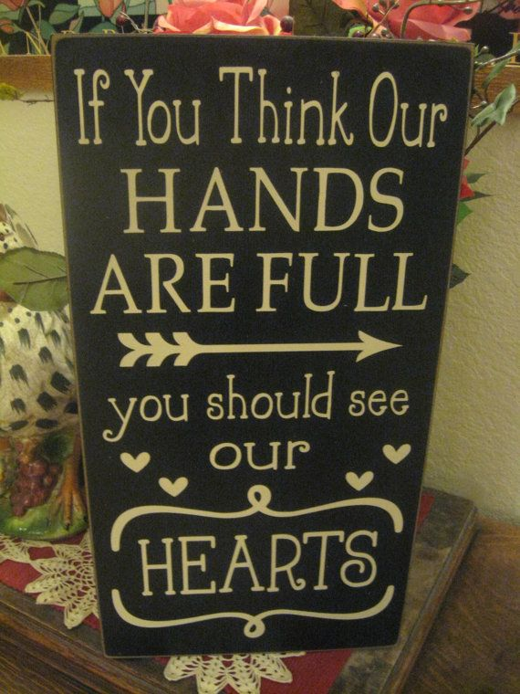 Wood Sign,Primitive Wood Sign, If you Think Our Hands,Baby Shower Gift,gift for twins,multiple birth,Nursery Wall Decor,New Mom gift,baby
