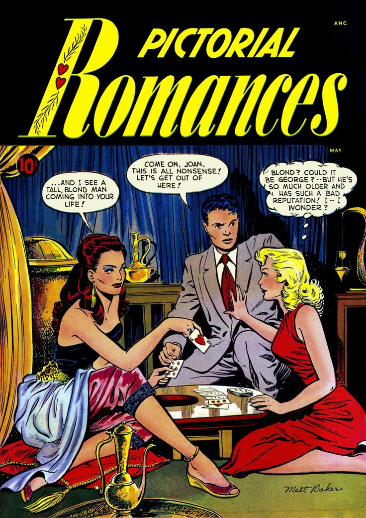 "comicbookcovers: ""Pictorial Romances #7. May 1951, Pencils: Matt Baker, Inks: Ray Osrin """
