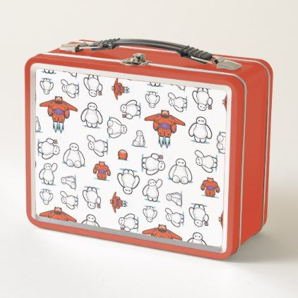Baymax Suit Pattern Metal Lunch Box - patterns pattern special unique design gift idea diy