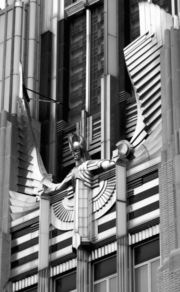 Niagara Mohawk Building, Syracuse, New YorkPhoto by tropidolaemus So so so incredible I hardly know what to write. So instead I will paste over from this Wikipedia article and goggle at it some more:  The Niagara Mohawk Building is an art deco classic building in Syracuse, New York. It is a building of the Niagara Mohawk power utility company that is now a division of National Grid plc. It was listed on the National Register of Historic Places as the Niagara Hudson Building in 2010.