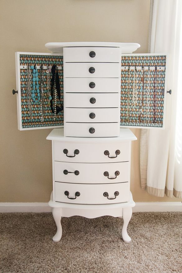 Jewelry armoire re-do