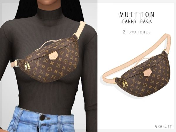 Vuitton Fanny Pack – The Sims 4 Download – SimsDom RU – Sims 4