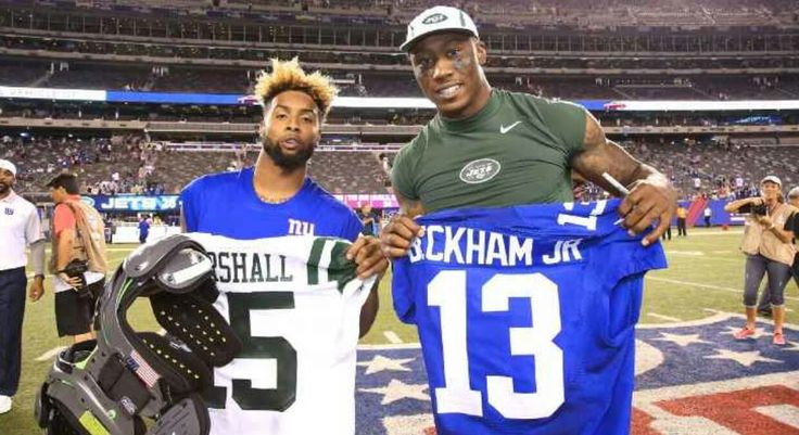 Odell Beckham Jr. and Brandon Marshall.  《NYG & NYJ》