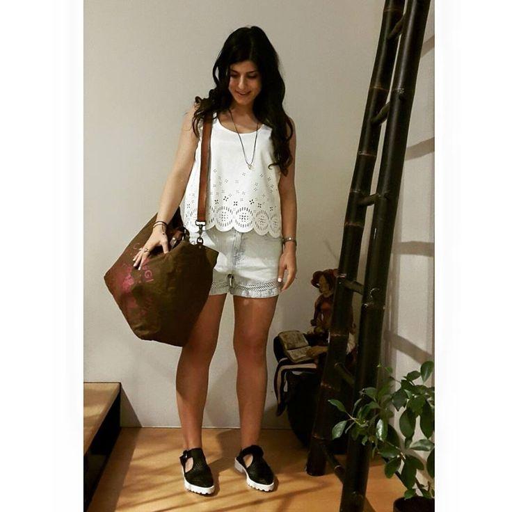 Taking a short trip   Antonella Boutique #Campomaggi #Bags #Minkpink #shorts #top #Miista #sandals #AntonellaBoutique