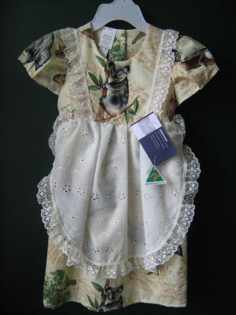 natural colour aussie animal size 2 dressls