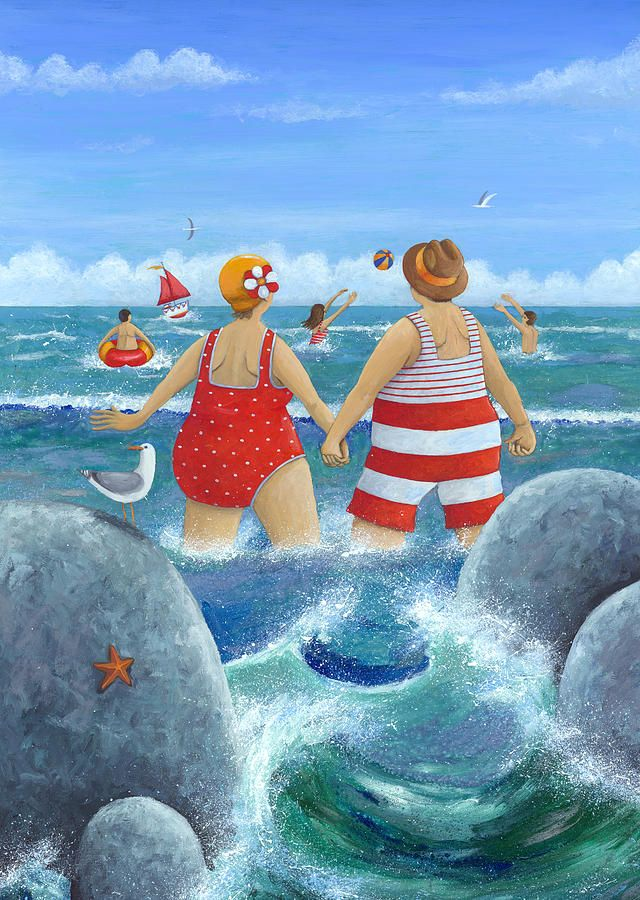 I Do Like To Be Beside The Seaside Photograph - I Do Like To Be Beside The Seaside Fine Art Print Peter Adderly