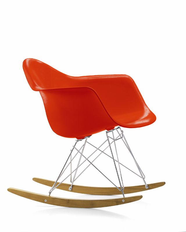 Vitra Eames RAR Plastic Rocking Chair in red