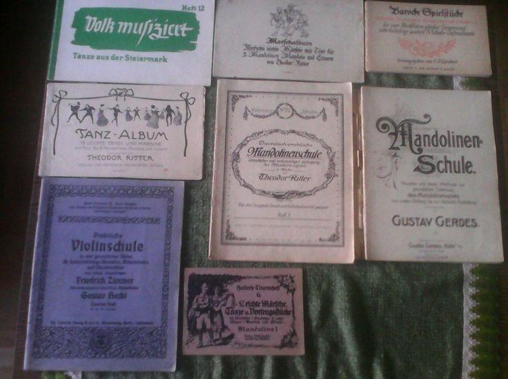 G. Gerdes - Mandolinenschule (von ebay) und andere Noten von Ritter etc.