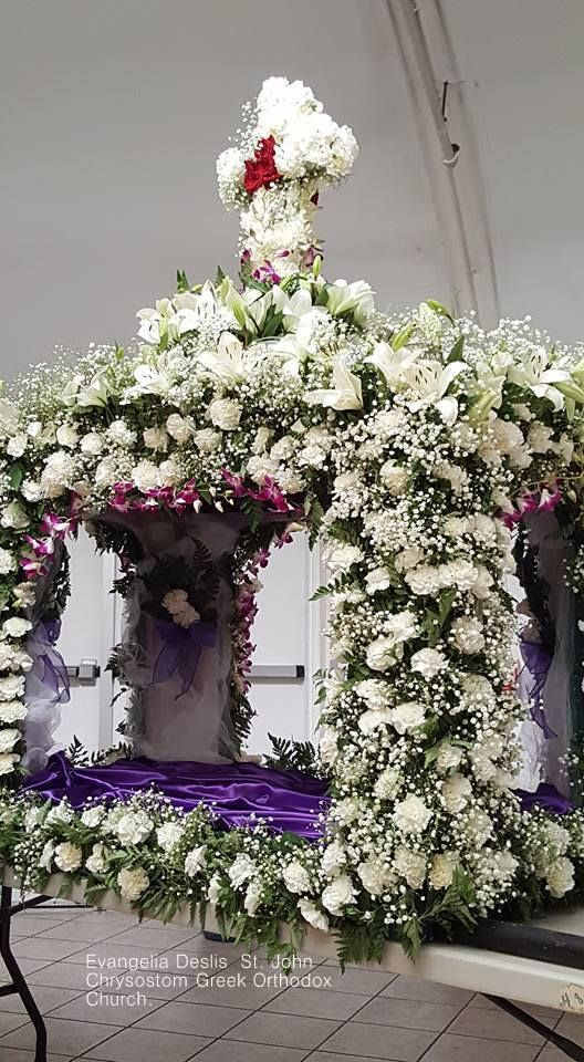 Evangelia Deslis .Επιτάφιος στην Ορθόδοξη εκκλησία Αγ.Ιωάννου Χρυσοστόμου στις Η.Π.Α.14/4/17.St. John Chrysostom Greek Orthodox Church.