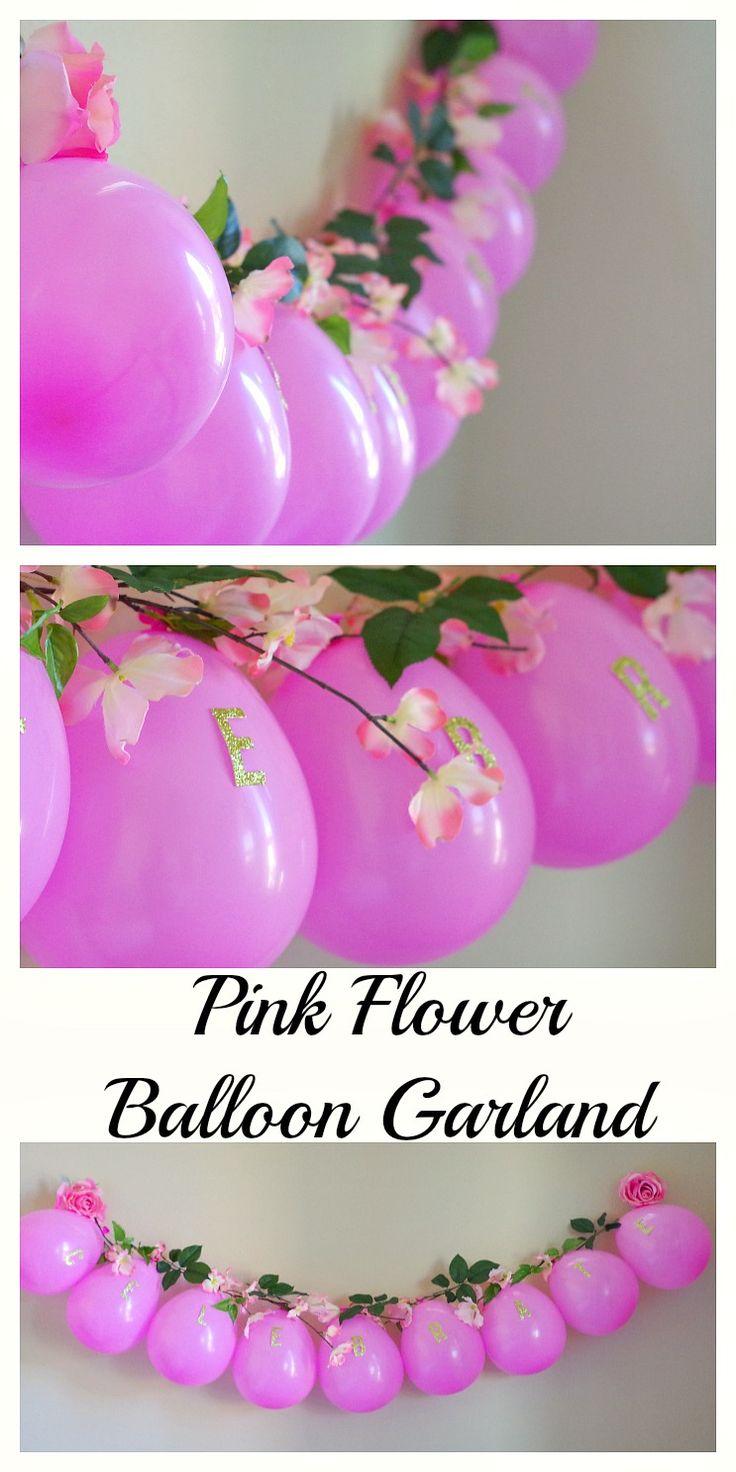 Pink Flower Balloon Garland