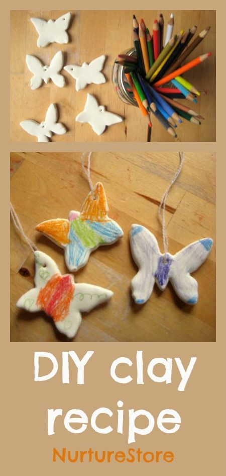 A super easy DIY craft recipe: how to make clay ~ and a beautiful butterfly craft
