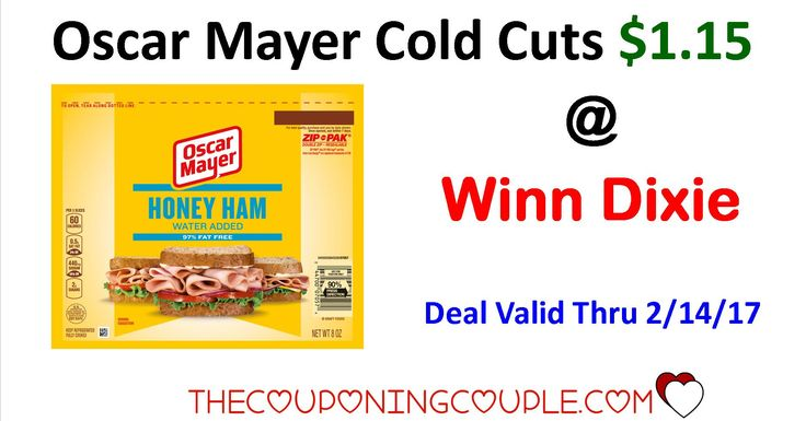 Here's a great deal on Oscar Mayer Cold Cuts for Only $1.15 @ Winn-Dixie!! The deal ends on 2/14 so check it out now and head to get yours this weekend!  Click the link below to get all of the details ► http://www.thecouponingcouple.com/oscar-mayer-cold-cuts/ #Coupons #Couponing #CouponCommunity  Visit us at http://www.thecouponingcouple.com for more great posts!
