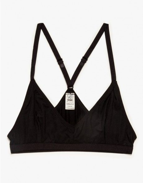 Ultra soft bamboo bra from Base Range. Features comfortable, elastic band, x-shaped back and thin adjustable straps.  • 94% bamboo, 6% elastane • Made in Portugal
