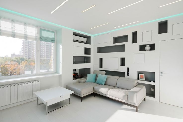 Living Room Space in Apartment in Moscow by Shamsudin Kerimov