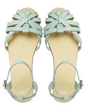 Image 3 ofASOS FAITHLESS Leather Sandals