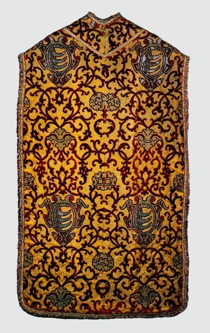 Chasuble with coat of arms of Stephen Báthory by Anonymous from Italy, 1576-1586 (PD-art/old), Muzeum Skarbca Katedralnego im. Jana Pawła II w Krakowie