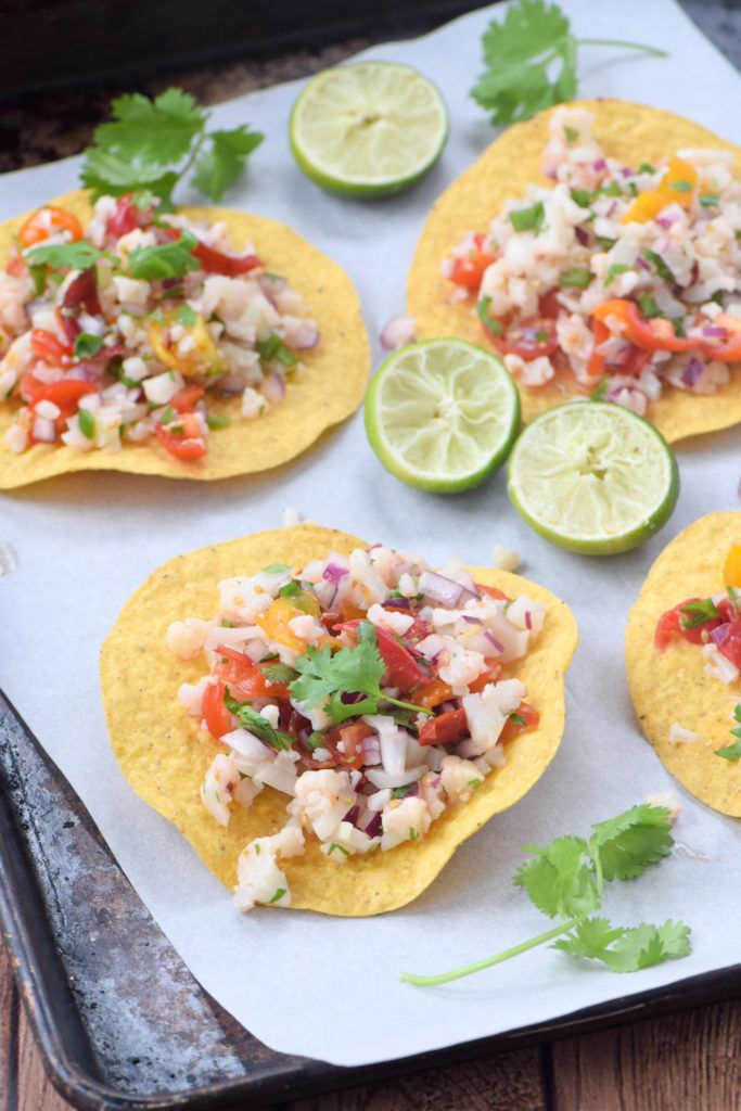 Vegan, gluten-free and delicious too? That's cauliflower ceviche, a traditional Mexican dish that mimics the texture of ceviche without the raw fish.