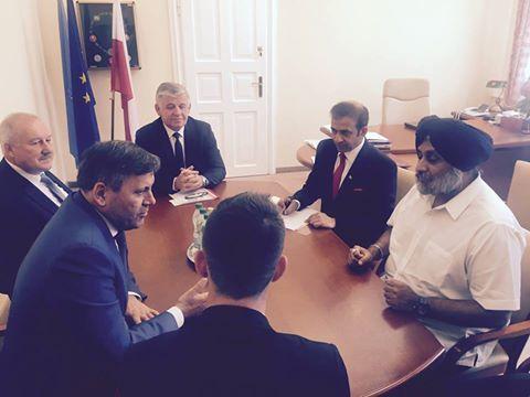 Sukhbir Singh Badal meeting in poland. #SukhbirSinghBadal #SAD #ShiromaniAkaliDal